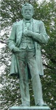 Grant Memorial Statue in Grant Park, Galena, Illinois. Julia Grant remarked that it was the best likeness of her husband, as his hands were thrust into his pockets.