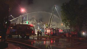 Vancouver Fire and Rescue Services - 4 Alarm Structure Fire At Granville Seniors Center