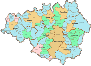 WikiProject Greater Manchester is located in Greater Manchester