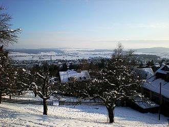 Grenchen - View of Grenchen from a local hilltop church