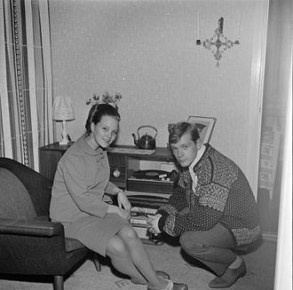 Halvard Kausland - Grethe and Halvard Kausland (1966).  (Photo: Rigmor Dahl Delphin / Oslo Museum)