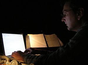 John Gromada - John Gromada at rehearsal, 2004