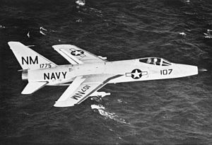 Grumman F11F-1 of VF-191 in flight c1959.jpg