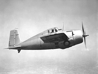 Grumman F4F Wildcat - The XF4F-3 in 1939; it was written off in a fatal accident on 16 December 1940