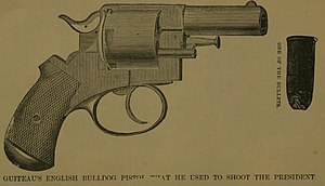 Assassination of James A. Garfield - Contemporary illustration of Guiteau's pistol