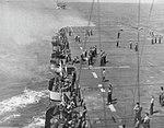 Gunnery drill aboard USS Lunga Point (CVE-94), circa in 1944.jpg