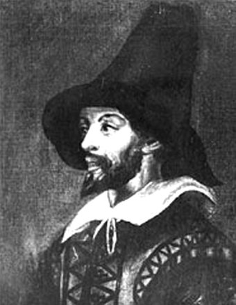 Guy Fawkes serves as physical and philosophical inspiration for the titular protagonist of V for Vendetta. Guy Fawkes portrait.jpg
