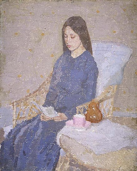 The Convalescent (ca. 1923–24), one of ten versions she painted of this composition