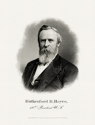 Inauguration of Rutherford B. Hayes - Image: HAYES, Rutherford B President (BEP engraved portrait)