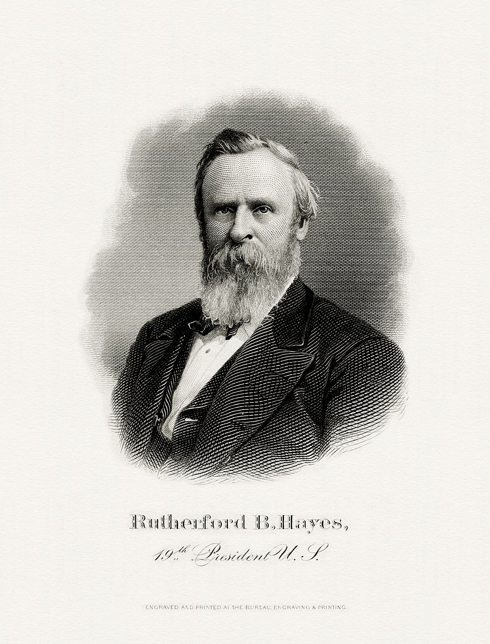 HAYES, Rutherford B-President (BEP engraved portrait)