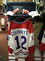 HHOF July 2010 Canadiens locker 09 (Cournoyer).JPG