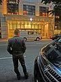 HK CWB 銅鑼灣道 Tung Lo Wan Road evening visitor view entrance St Paul's Hospital Nov-2013.JPG
