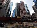 HK CWB 銅鑼灣 Causeway Bay 邊寧頓街 Pennington Street 伊榮街 Irving Street yellow marking crossway construction site Oct 2019 SS2 01.jpg