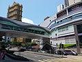 HK TKL 調景嶺 Tiu Keng Leng 彩明街 Choi Ming Street 景嶺道 King Ling Road footbridge n shopping centre April 2019 SSG 04.jpg