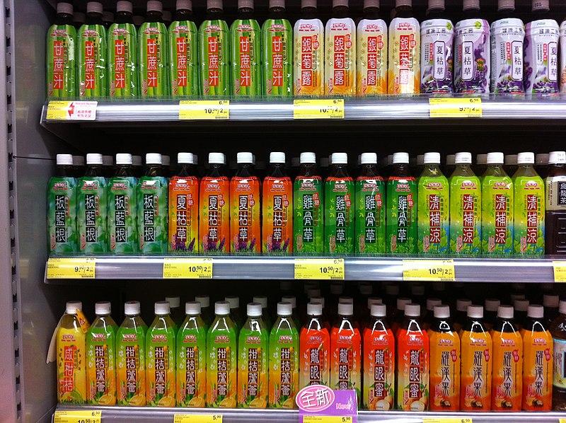 File:HK drink 鴻福堂 Hung Fook Tong at Welcome shop supermarket June-2013.JPG