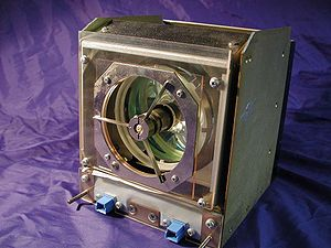 Perspective View of a Lamp Housing from a medium size movie theatre projector, showing on-axis mounting of xenon short-arc lamp.
