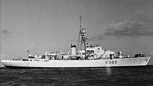 HMS Knaresborough Castle (K389) - Image: HMS Knaresborough Castle FL14440