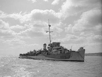 Captain-class frigate - Image: HMS Stayner 1944 IWM A 24049