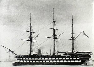 HMS Nelson (1814) - Image: HMVS Nelson (AWM 300054) (cropped)