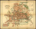 HUA-210078-Plattegrond van de stad Utrecht met weergave van de bebouwing en straatnamen evenals de grenzen van de kiesdistricten voor de Tweede Kamer en Gemeente.jpg
