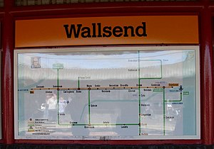 Wallsend - Image: Hadrian's Wall map, Wallsend Metro station geograph.org.uk 725591