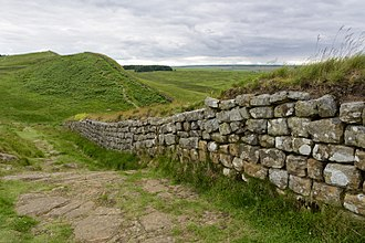 World of A Song of Ice and Fire - The Wall in the Ice and Fire series was inspired by Hadrian's Wall in the North of England.