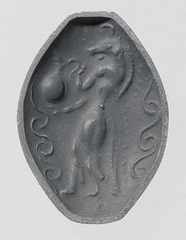 Seal impression Minoan genius