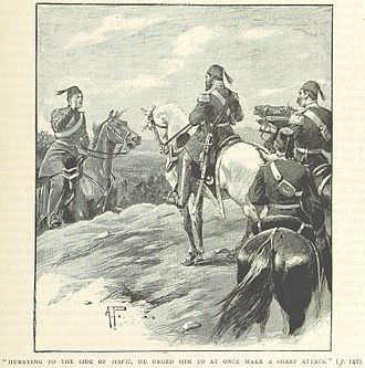 Helmuth von Moltke the Elder - Moltke (left) advising Ottoman commander Hafiz Pasha at Nezib