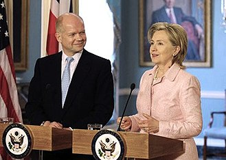 William Hague - Hague met US Secretary of State Hillary Clinton after his appointment as Foreign Secretary.
