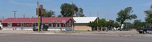 Haigler, Nebraska - Downtown Haigler: junction of Nebraska Avenue (U.S. Highway 34) and Porter Avenue