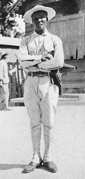 Gendarmerie of Haiti - A Haitian gendarme photographed by Harry A. Franck in 1920