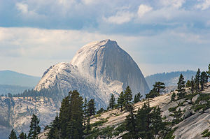 Olmsted Point - Overlooking the north side of Half Dome from Olmsted Point.