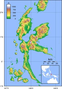 Localización en el grupo de Halmahera