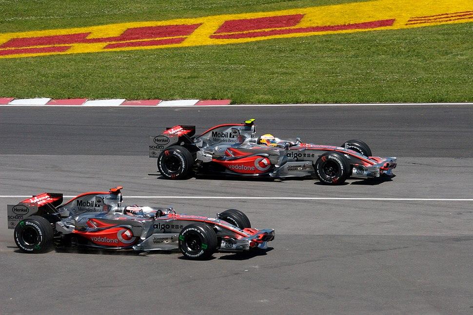 Hamilton + Alonso 2007 Canada
