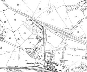 Hamstead Colliery - 1901 Ordnance Survey map of the pithead area