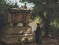 Hans Andersen Brendekilde - Katolsk pater foran en sarkofag.png