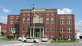 Elizabethtown, Kentucky - Hardin County Old Courthouse in downtown Elizabethtown