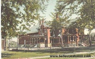 Daniel M. Harkness - DM Harkness home in Bellevue, OH, originally built by Henry Flagler and later became the Bellevue YMCA