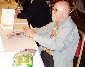 Harry Harrison (writer) - Harrison at the 63rd World Science Fiction Convention in Glasgow, August 2005