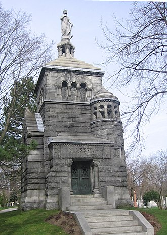 Mount Pleasant Cemetery, Toronto - The Massey family's tomb, designed by E.J. Lennox in the Romanesque Revival style