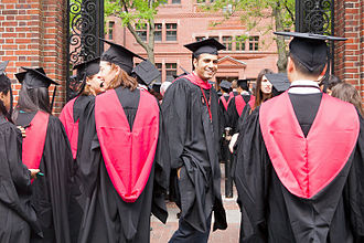 History and traditions of Harvard commencements - Outside Sever Gate, 2015