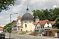 Haselsdorf Tobelbad Kirche Pfarrhof Trafik.JPG