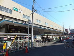 Hasune Station west side.jpg