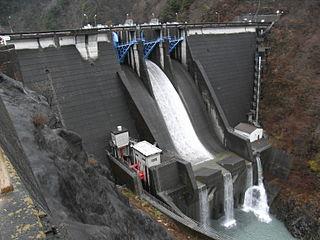 Hatanagi-II Dam dam in Shizuoka Prefecture, Japan