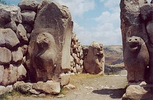 The Lion Gate at Hattusa, Turkey. This was one...