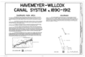 Havemeyer-Willcox Canal System, Rifle, Garfield County, CO HAER COLO,23-RIF.V,1- (sheet 1 of 8).png