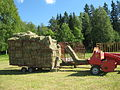 Hay bale wagons with Welger AP41 baler.jpg