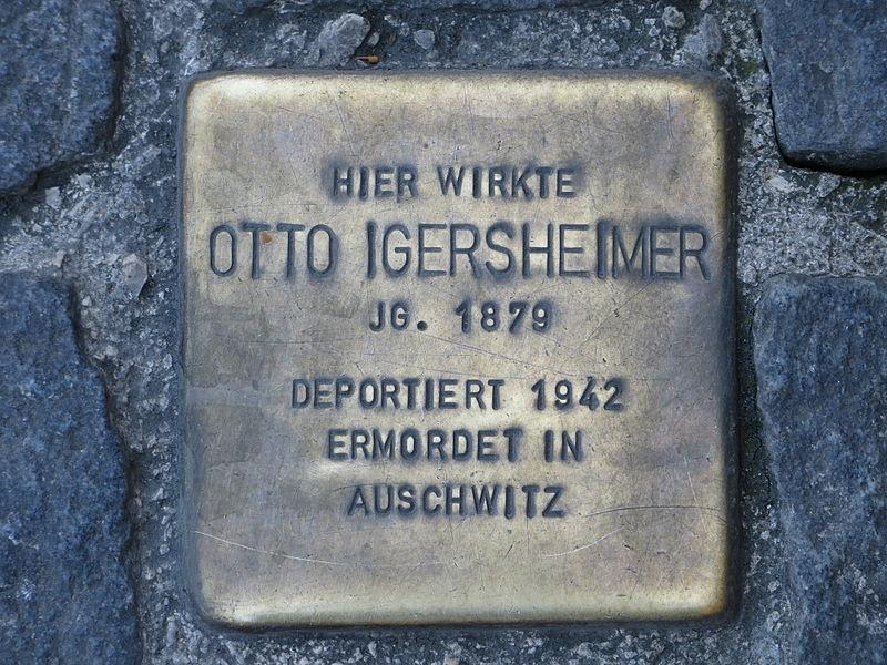 File:Heilbronn Stolperstein Otto Igersheimer 20140606.jpg