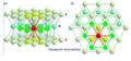 Heksagonaalne tihepakend (a) külgvaates (b) pealtvaates.png