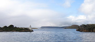 West Coast, Tasmania - Hell's Gates, entrance to Macquarie harbour, Western Tasmania